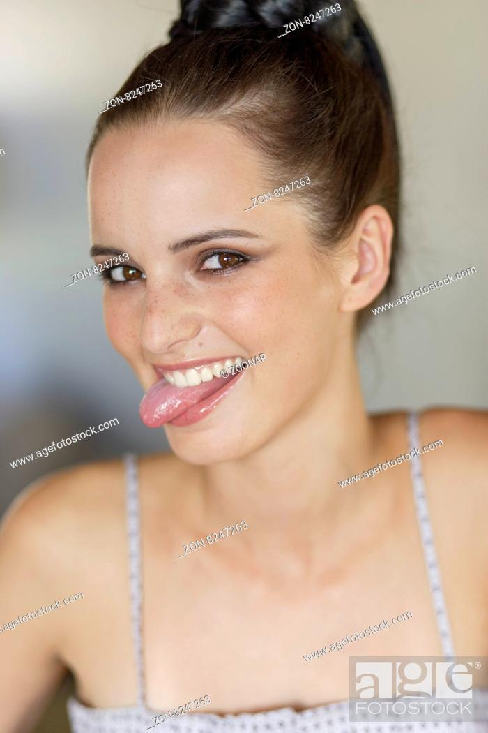 Tongue woman out sticking What Does