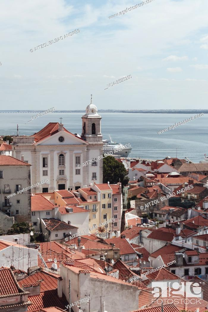 Stock Photo: Lisbon is the capital and the largest city of Portugal, with an estimated population of 505, 526 within its administrative limits in an area of 100.