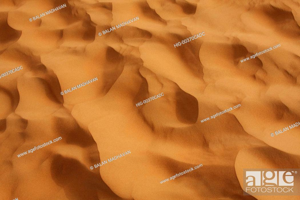 Stock Photo: SAND DUNES IN DUBAI.
