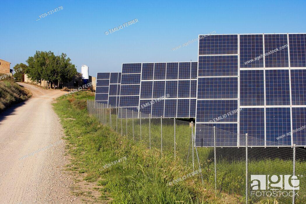 Stock Photo: Solar Energy  LLeida  Spain.