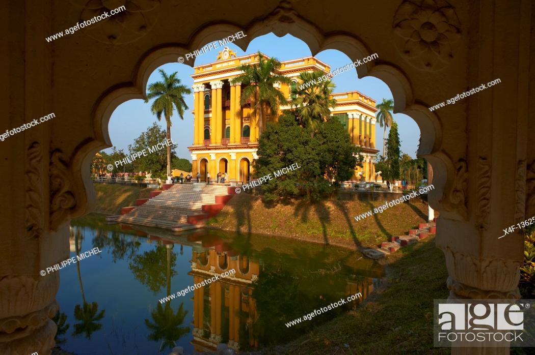 Stock Photo: India, West Bengal, Murshidabad, former capital of Bengal, Katgola Palace.