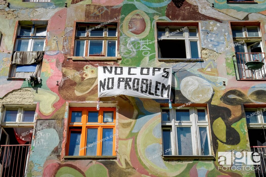 Besetztes Haus, Rigaer Strasse 94, Friedrichshain, Berlin ...