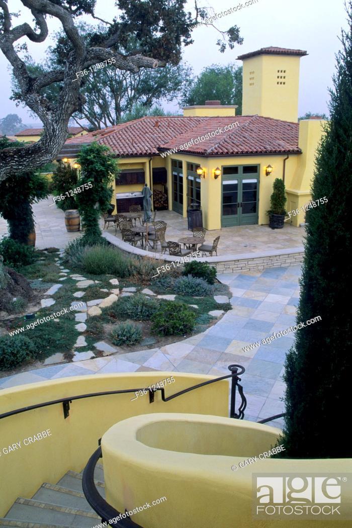 Stock Photo: Villa Toscana, Paso Robles, San Luis Obispo County, California.