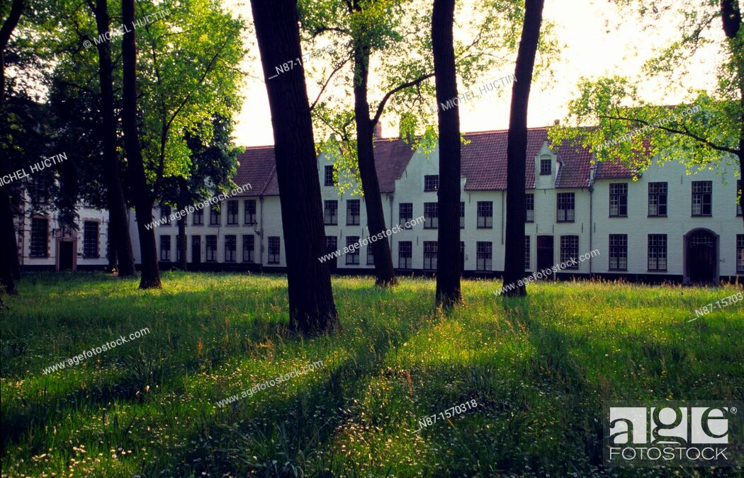 Stock Photo: Belgium, Bruges, The Beguinage.