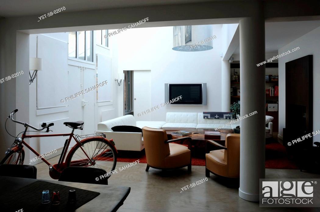 Stock Photo: Living Room, Paris, France.