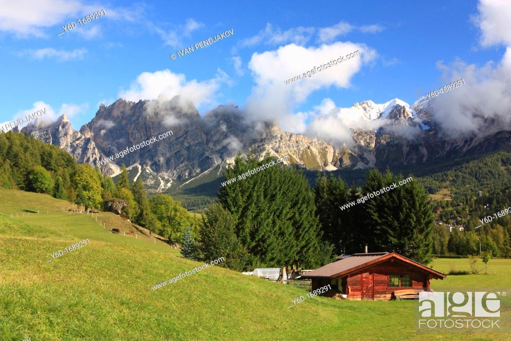 Stock Photo: Dolomites, Italy.