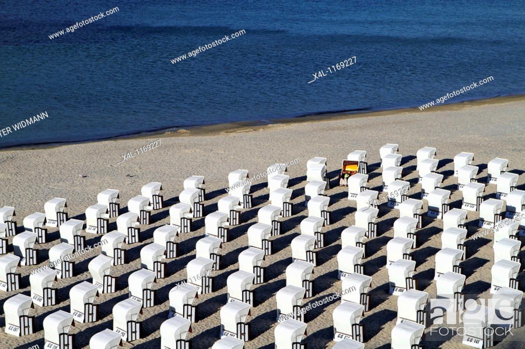 Stock Photo: Beach, Sellin, Ruegen, Baltic Sea, Mecklenburg Western Pomerania, Germany, Europe.