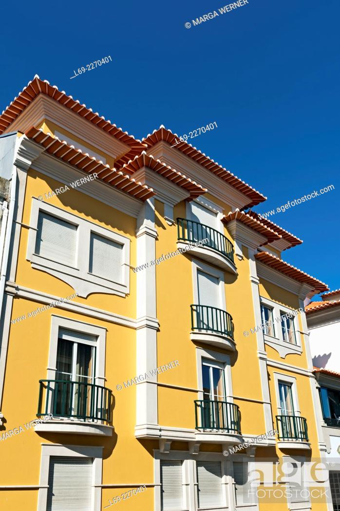 Stock Photo: Colorful houses in Aveiro, North of Portugal, Europe.