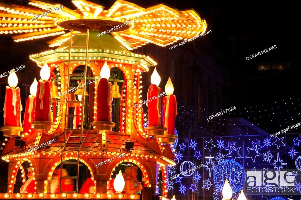 Birmingham Christmas Lights.England West Midlands Birmingham Christmas Lights And