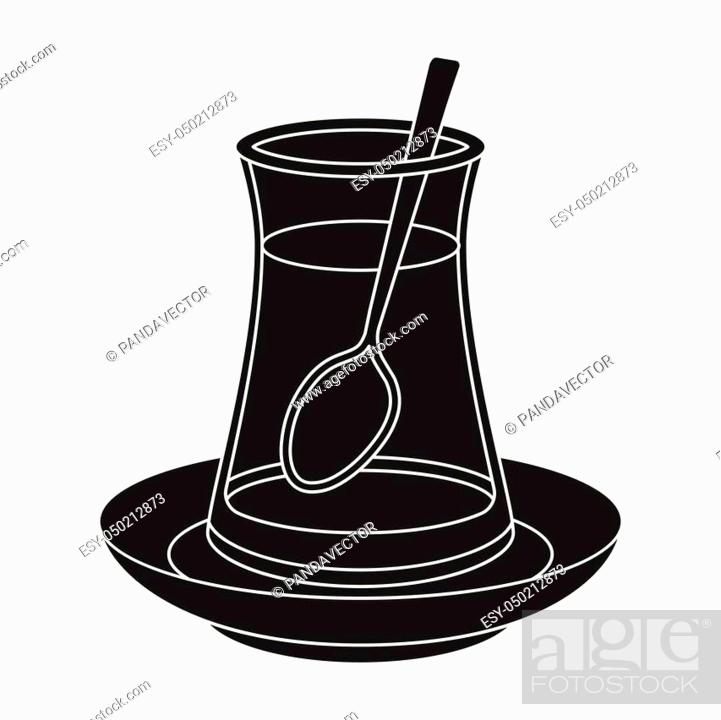 turkish tea icon in black style isolated on white background stock vector vector and low budget royalty free image pic esy 050212873 agefotostock 2
