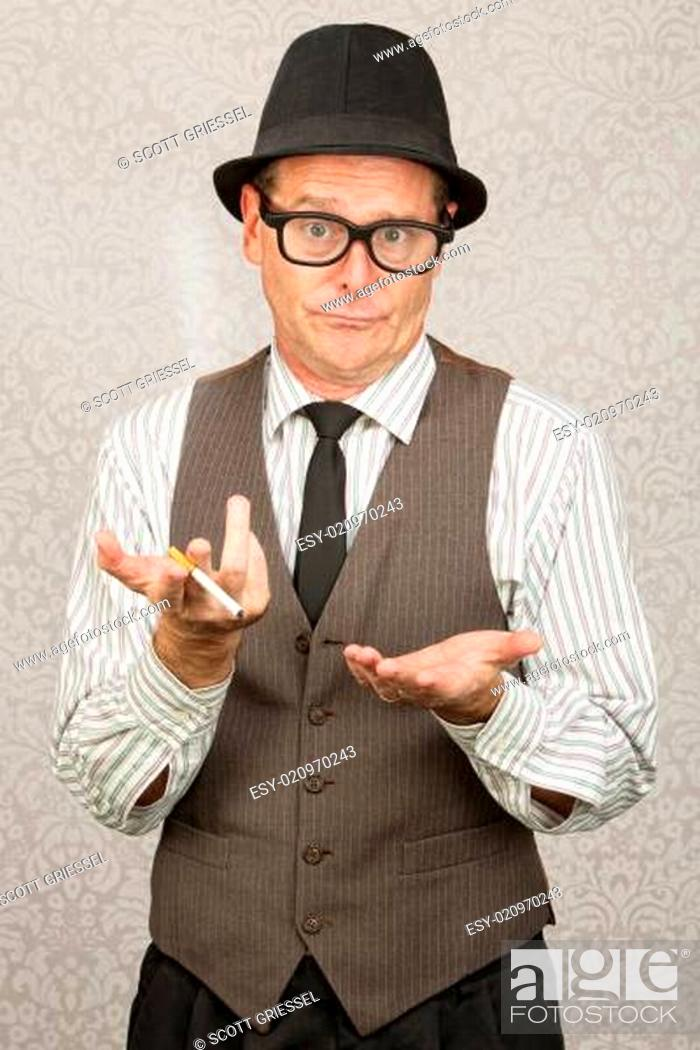 Stock Photo: Indifferent Man in Hat.