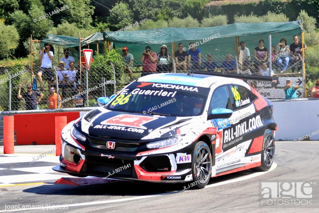 Stock Photo: WTCR 2018: Vila Real. Race of Portugal, Pratice Action. Guerrieri, Honda Civic Type R TCR #86.