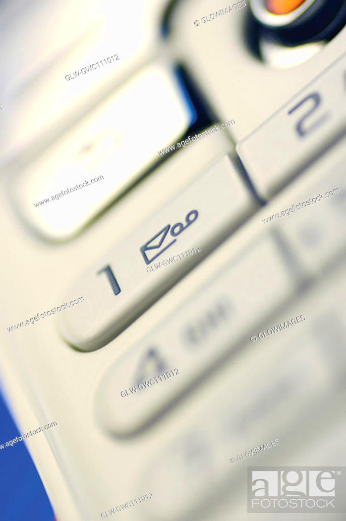 Stock Photo: Close-up of the keypad of a mobile phone.