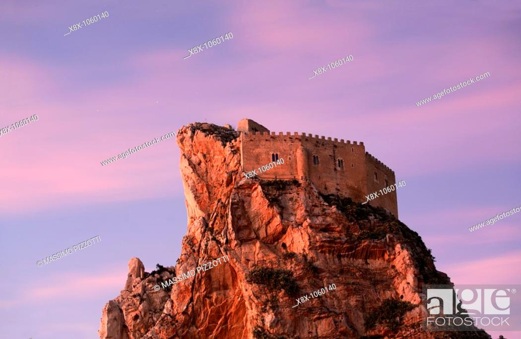 Stock Photo: Castle of Mussumeli, or Chiaramonte castle, Sicily, Italy.
