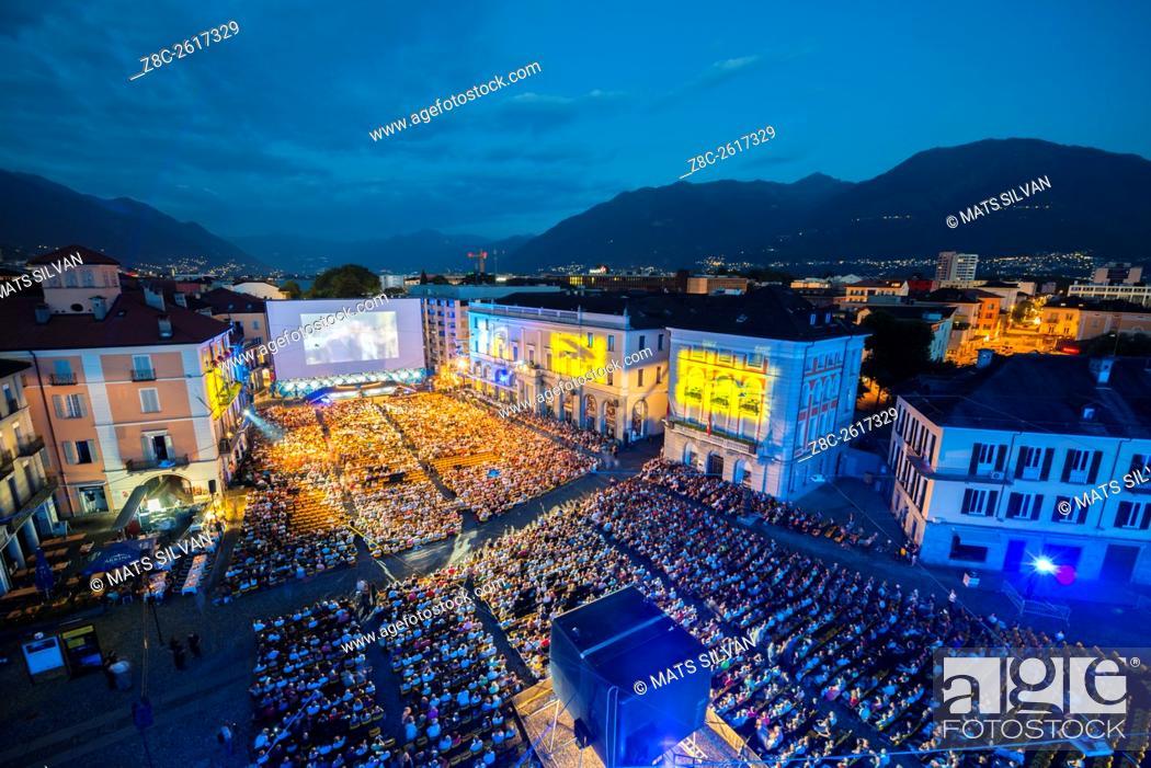 Stock Photo: Film Festival Locarno in Ticino, Switzerland.