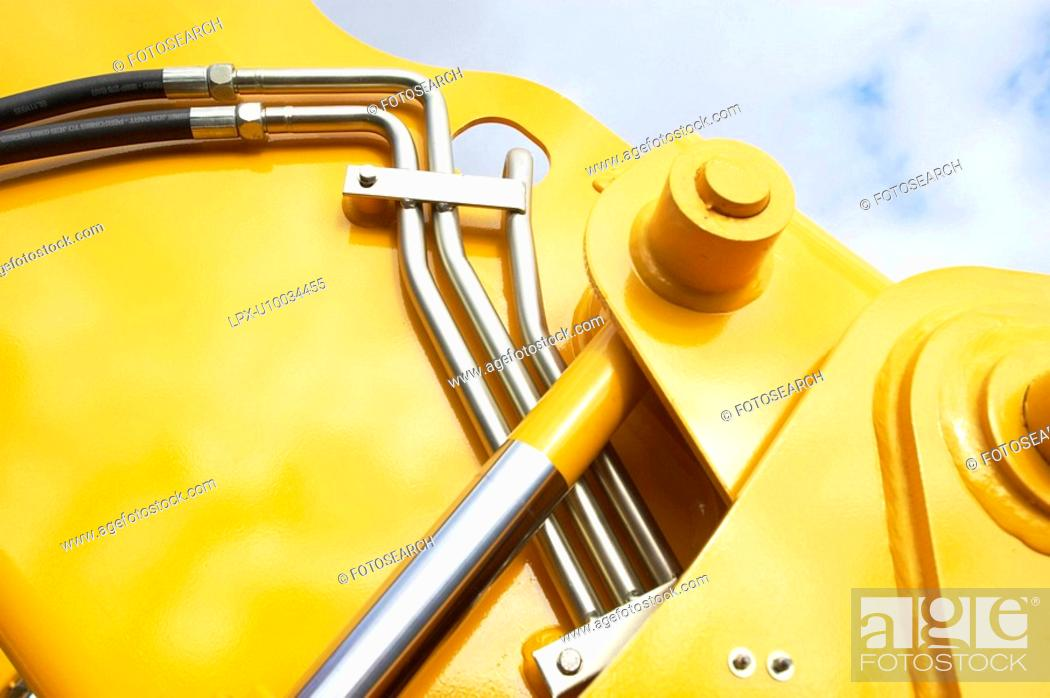 Stock Photo: Abstract detail of hydraulic forklift.