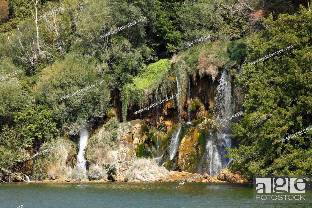 Stock Photo: Roski Slap, Krka waterfalls, Krka National Park, Dalmatia, Croatia, Europe.