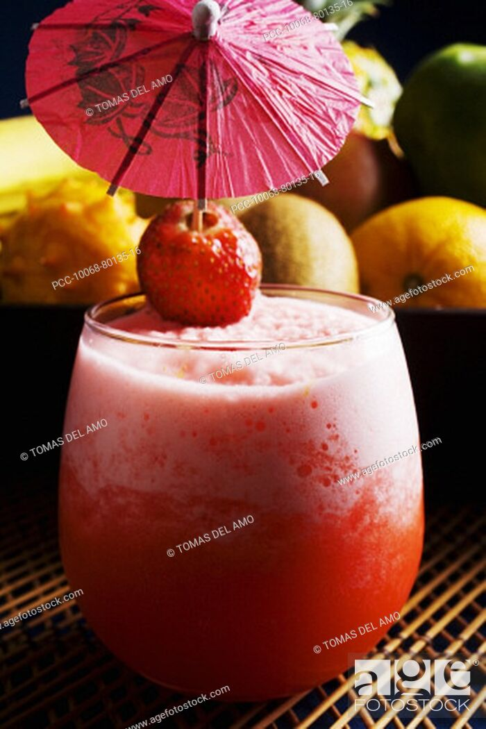 Stock Photo: Close-up of an exotic tropical drink.