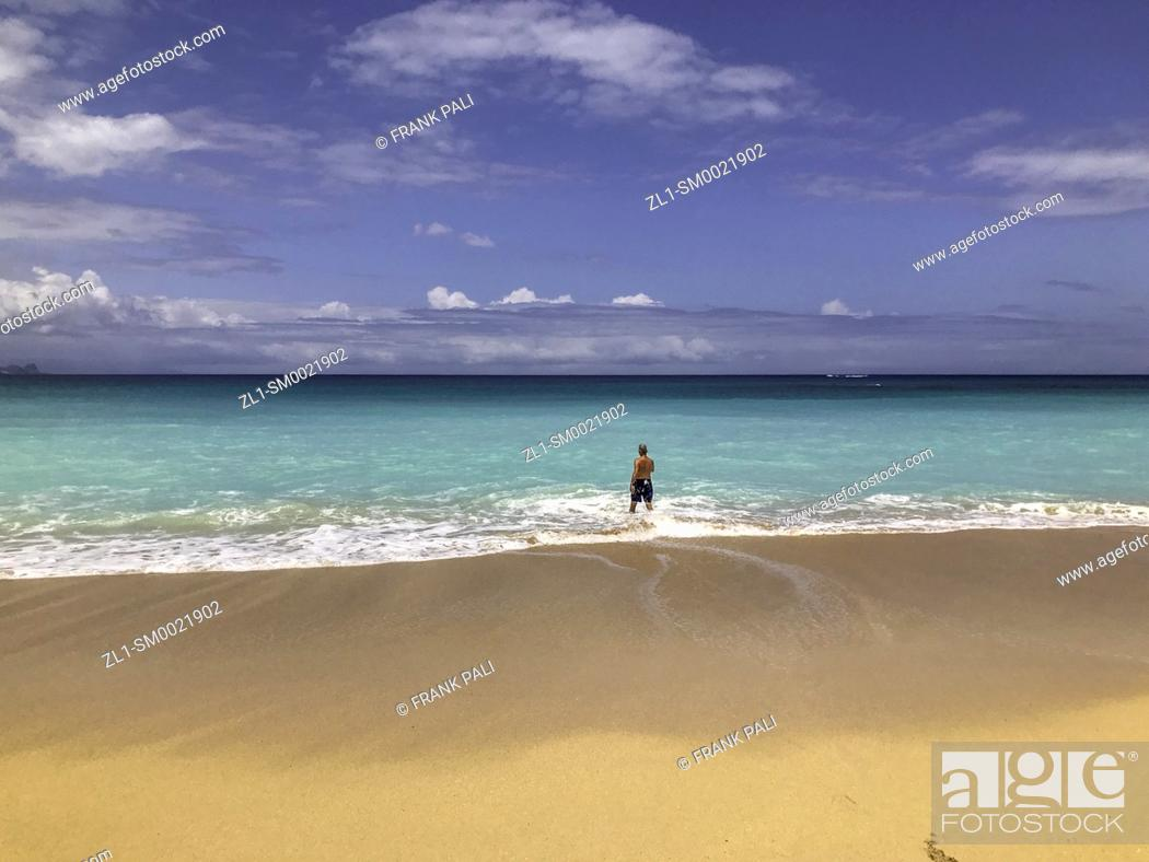 Stock Photo: Beach at H.A. Balwin Park, Maui, Hawaii, USA.