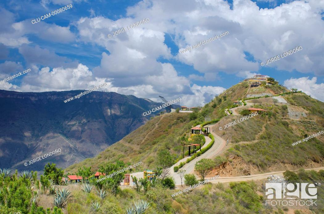 Stock Photo: National Park Chicamocha, Santander, Bucaramanga, Colombia.