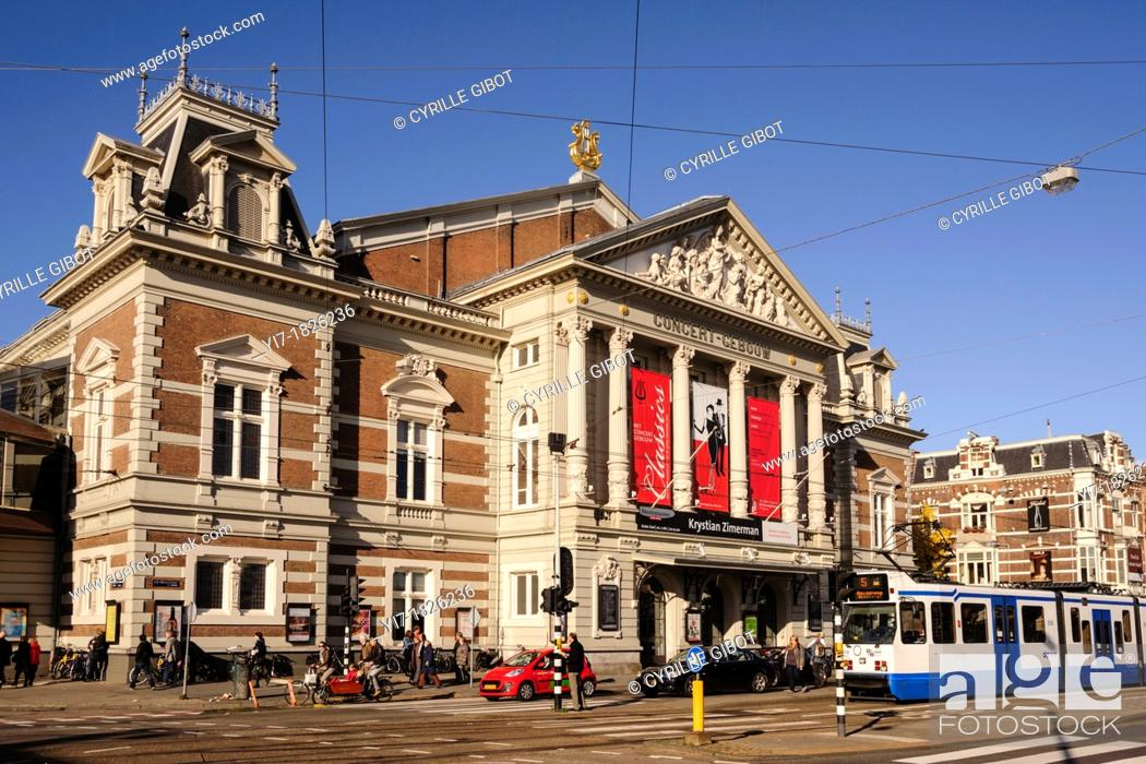 Stock Photo: The Concertgebouw, the Netherlands' most prestigious concert hall, Amsterdam, the Netherlands.