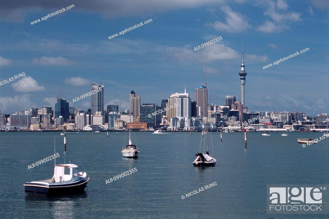 Stock Photo: New Zealand - North Island - Auckland - Waitemata Harbor.