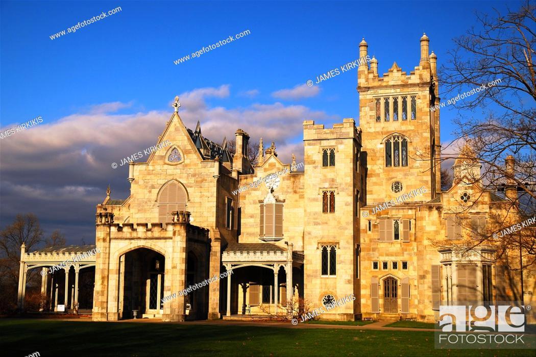 Stock Photo: Lyndhurst Castle, Tarrytown, NY.