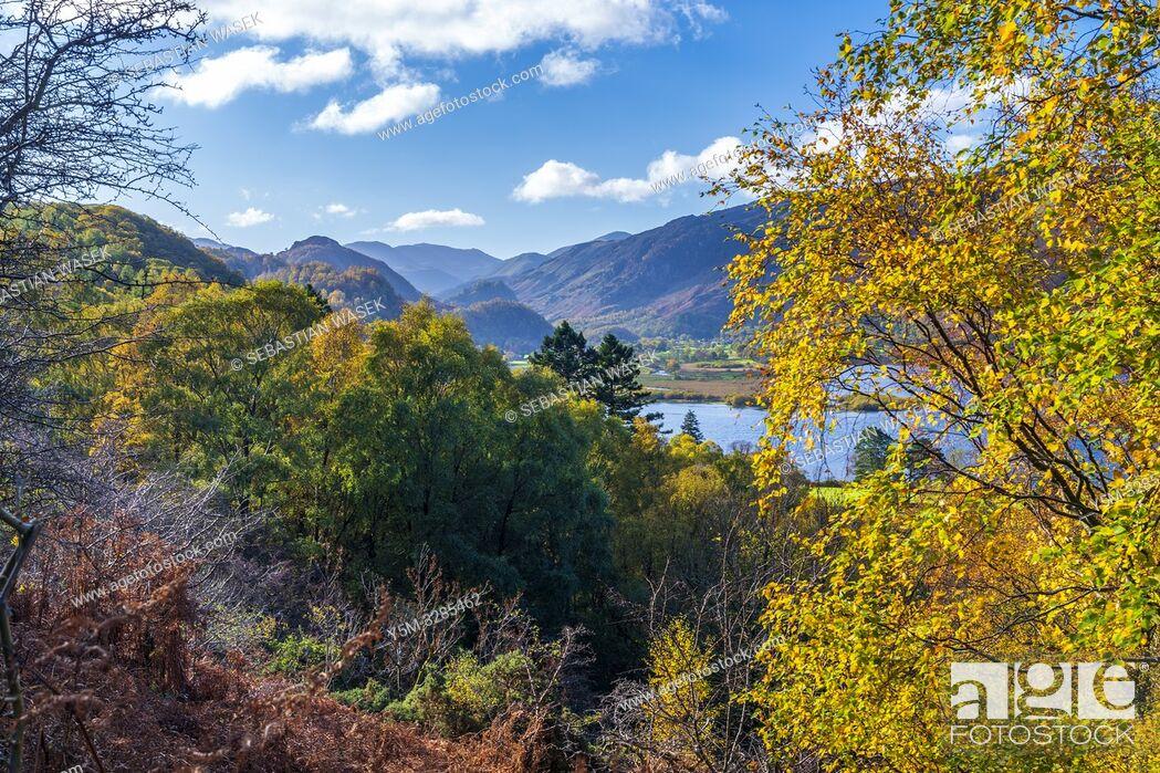 Stock Photo: Darwent Water, Keswick, Lake District National Park, Cumbria, England, UK, Europe.