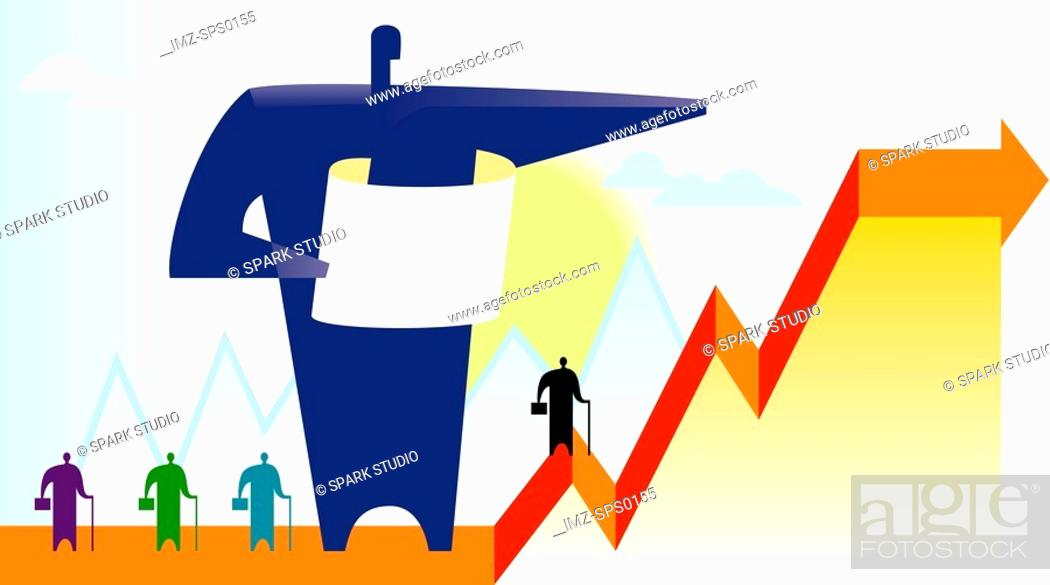Stock Photo: An illustration of sales growth.