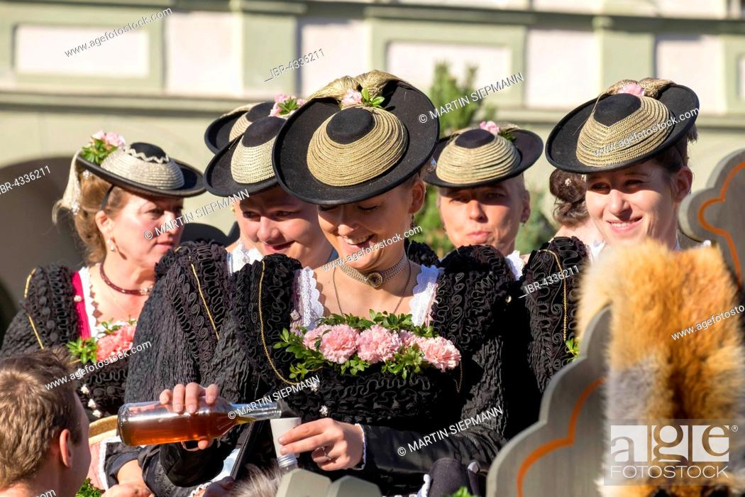 Stock Photo: The Leonhardi procession at Benediktbeuern Abbey, Upper Bavaria, Bavaria, Germany.