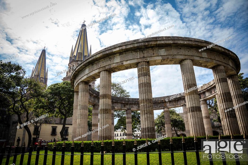 Stock Photo: Monuments of Guadalajara, Jalisco, Mexico.