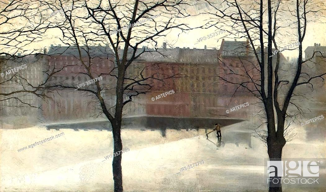 Imagen: Hammershoi Svend - a Winter's Day - Danish School - 19th and Early 20th Century.