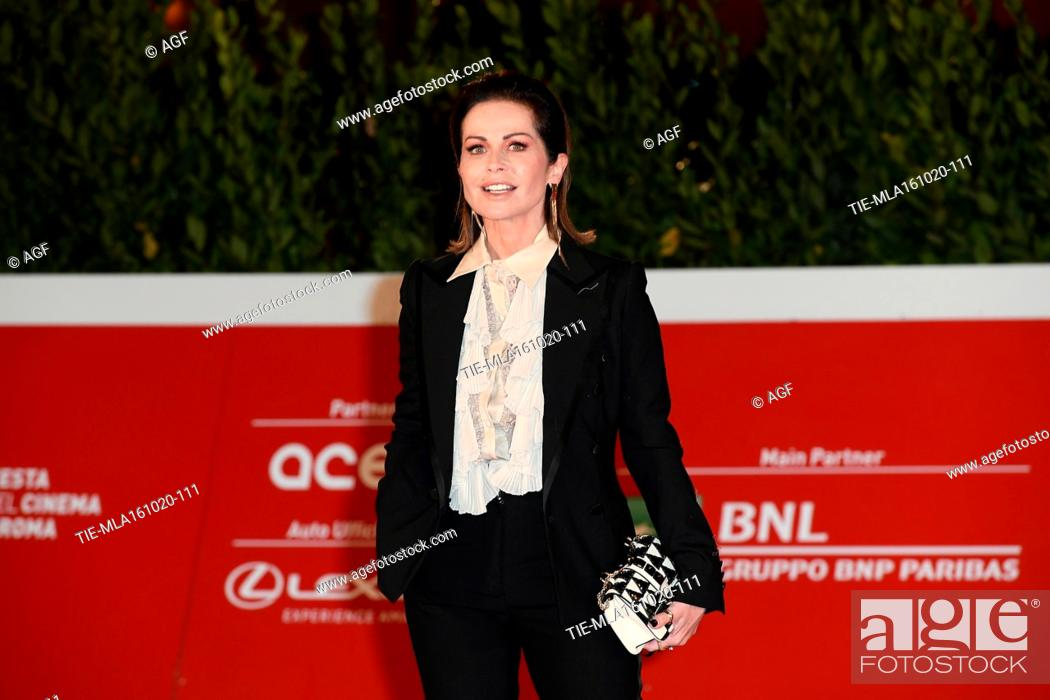 "Stock Photo: Chantal Sciuto attends the red carpet of the movie """"Supernova"""" during the 15th Rome Film Festival on October 16, 2020 in Rome, Italy."