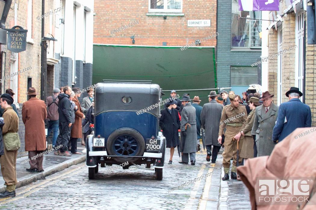Imagen: Gemma Arterton filming her new movie 'Their Finest Hour and a Half in East London Featuring: Atmosphere Where: London, United Kingdom When: 16 Sep 2015 Credit:.
