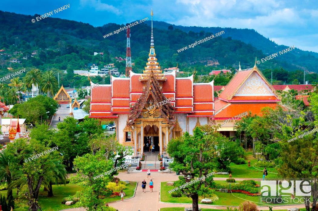 Stock Photo: Wat Chalong most important buddist temple in Phuket, Thailand.
