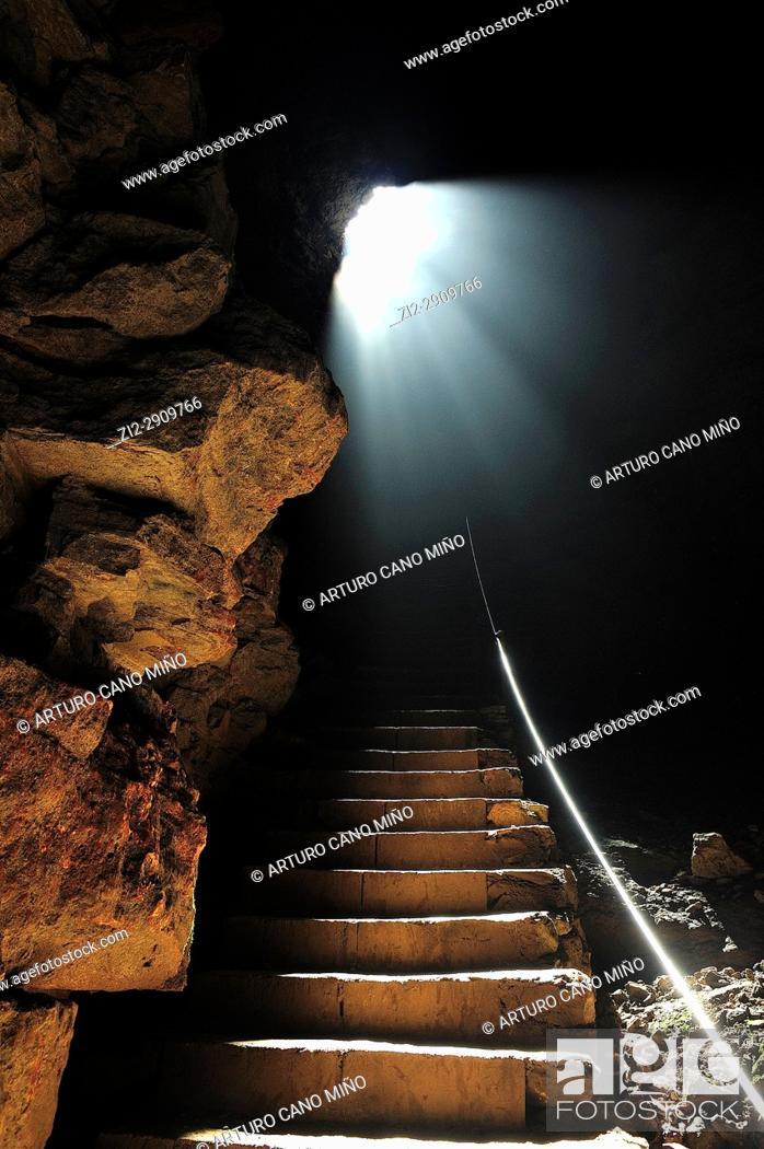 Stock Photo: Inside the chasm. Alto Tajo Natural Park. Villanueva de Alcorón, Guadalajara province, Spain.