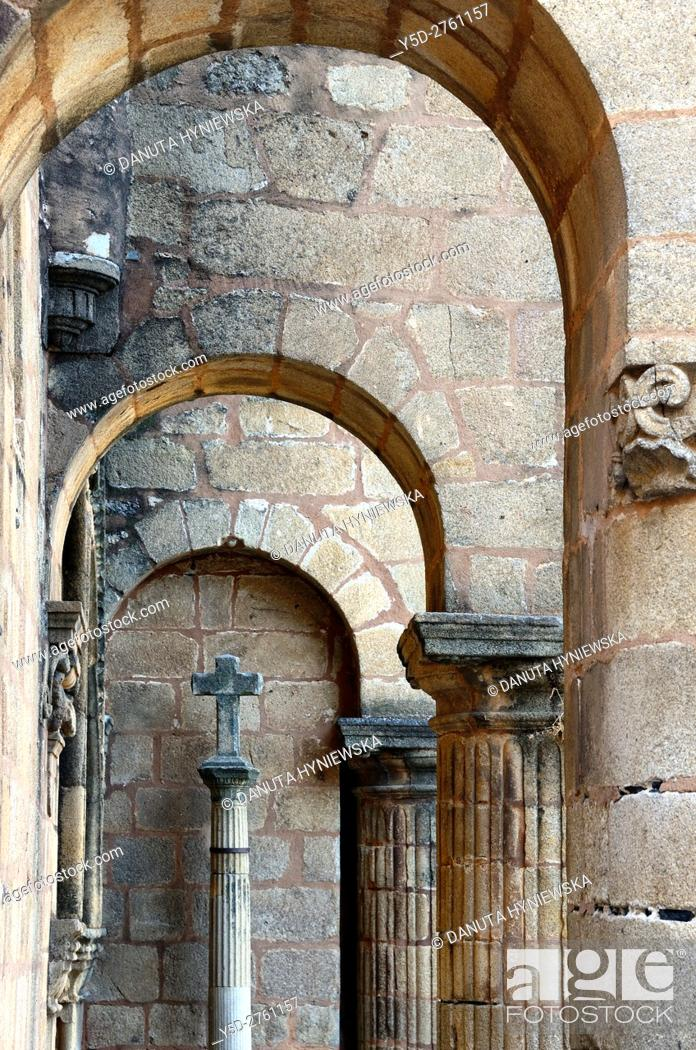 Stock Photo: architectural detail, Santiago church, Caceres, UNESCO , Extremadura, Spain, Europe.