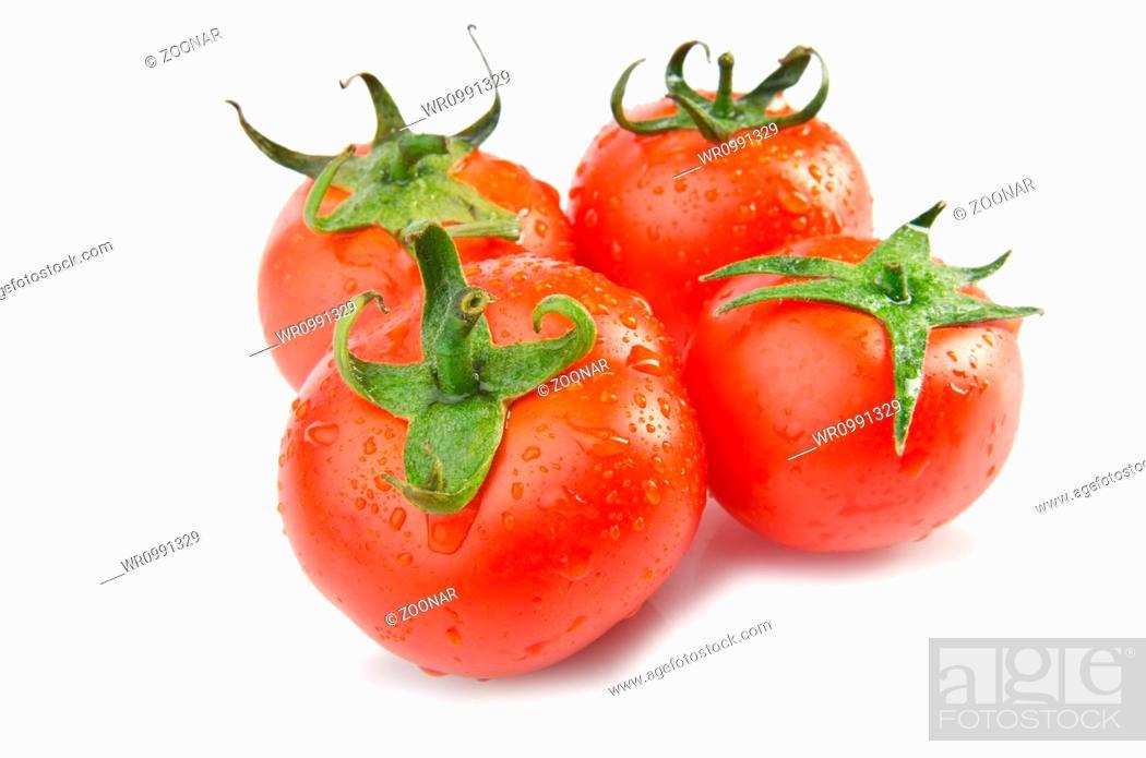Stock Photo: Fresh tomatoes isolated on the white.