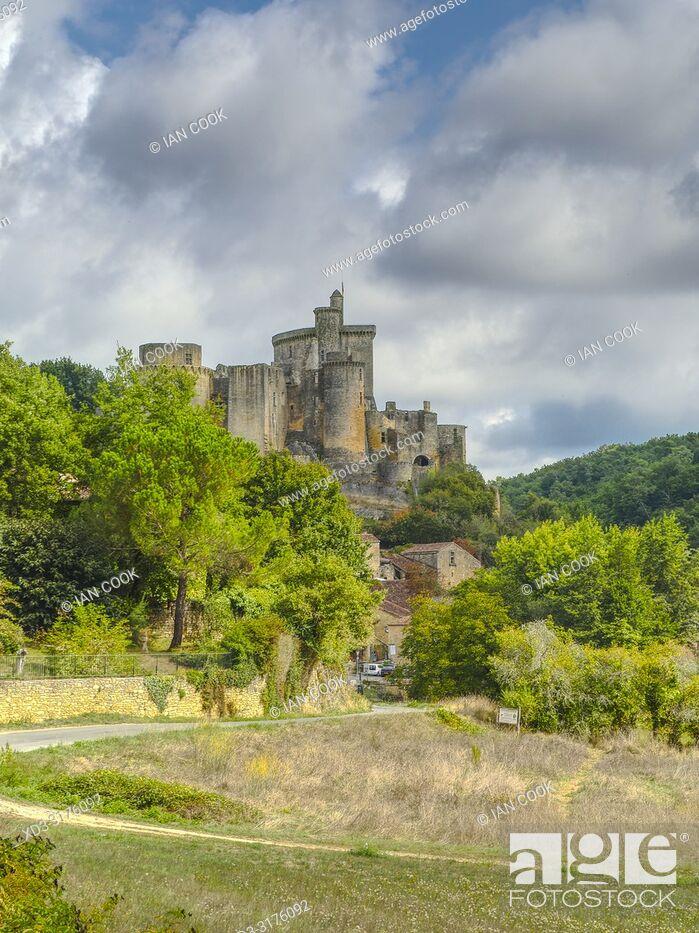 Stock Photo: Bonaguil Castle, Bonaguil, Lot-et-Garonne Department, Nouvelle Aquitaine, France.