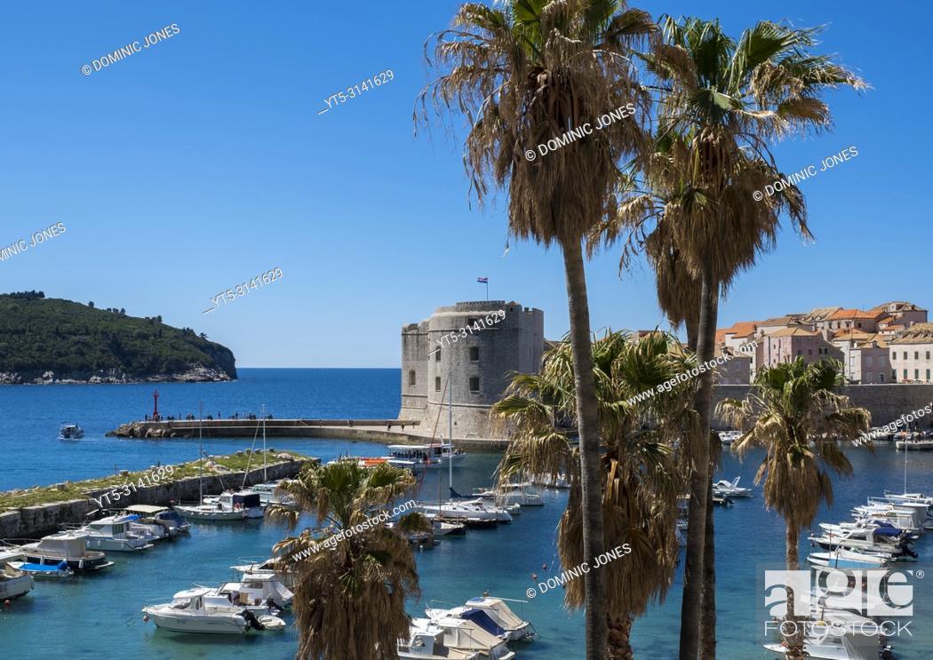 Stock Photo: The Old Port, Dubrovnik, Croatia, Europe.