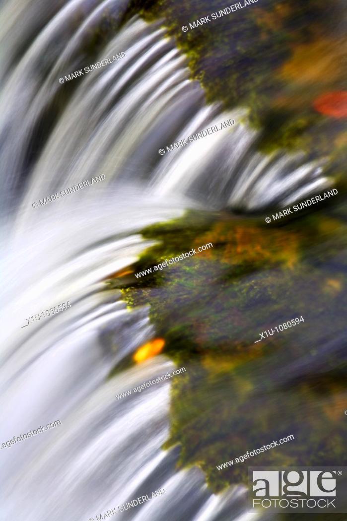 Stock Photo: Aysgarth Falls Wensleydale North Yorkshire England.