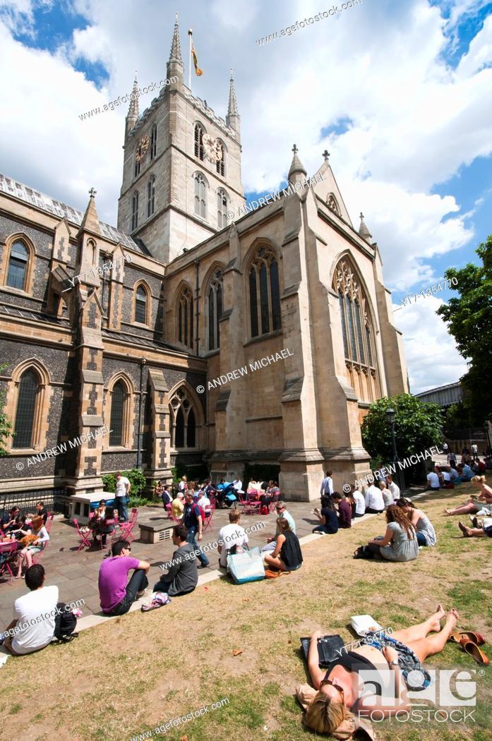 Stock Photo: Southwark Cathedral, Southwark, London, England, United Kingdom.