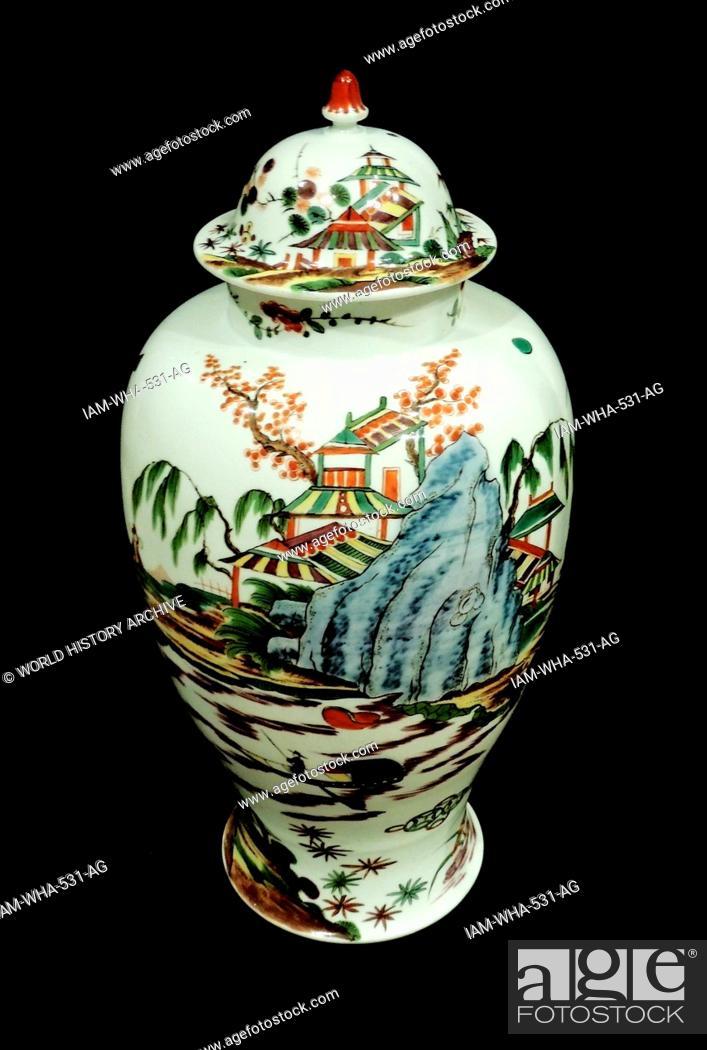 Vases Of Meissen Porcelain Meissenpainted Hard Paste Porcelain