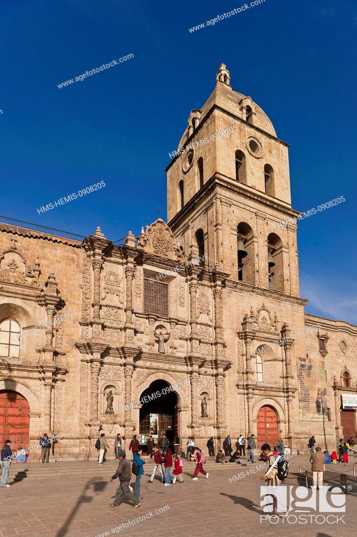 Stock Photo: Bolivia, La Paz Department, La Paz, San Francisco Baroque Church of the 16th century.