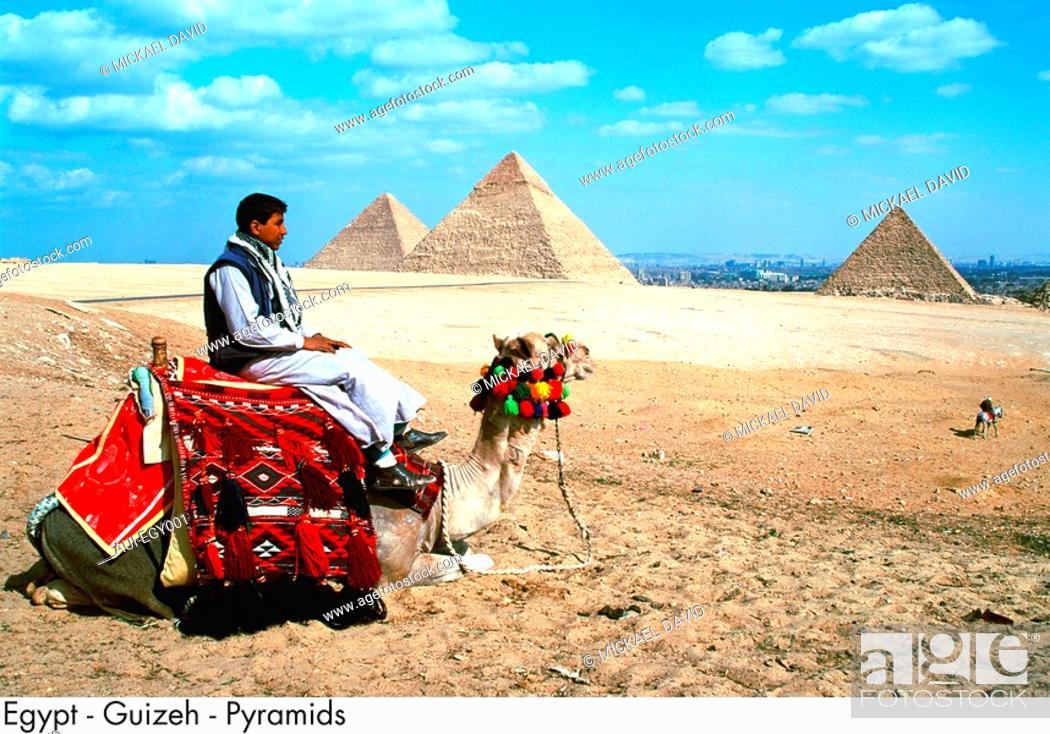 Stock Photo: Egypt - Giza - Pyramids.