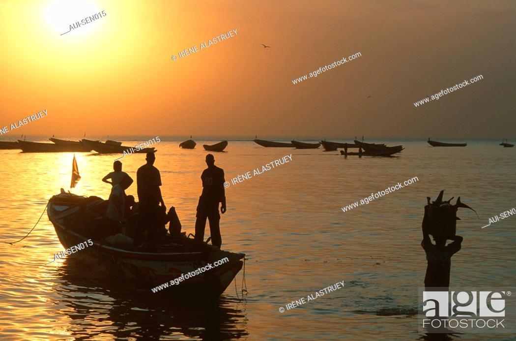 Stock Photo: Senegal - La Petite Cote - Mbour - Port de peche.