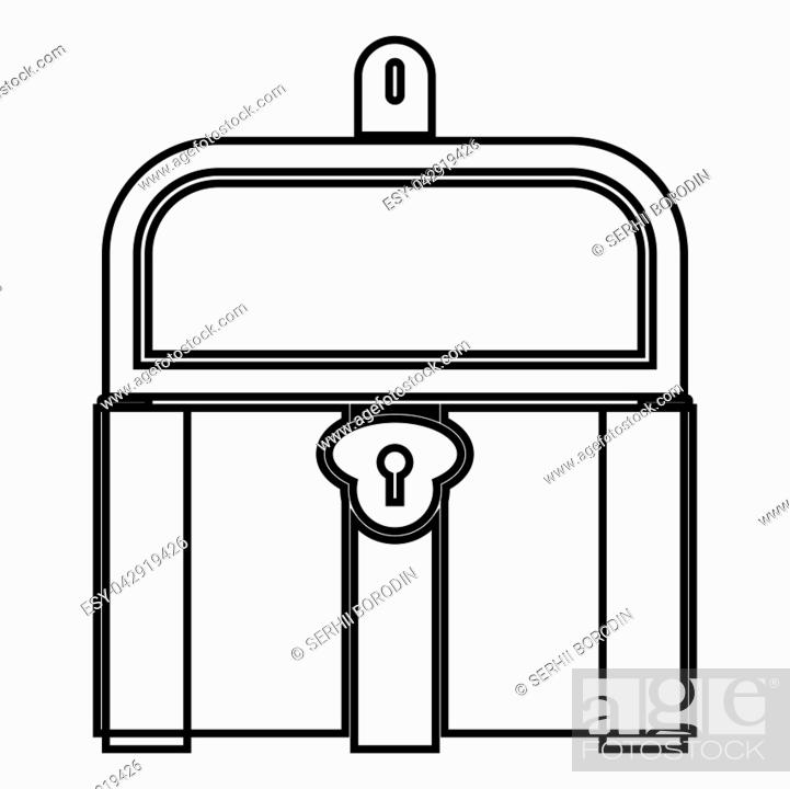 Vector: Kist or trunk icon black color vector illustration flat style simple image.