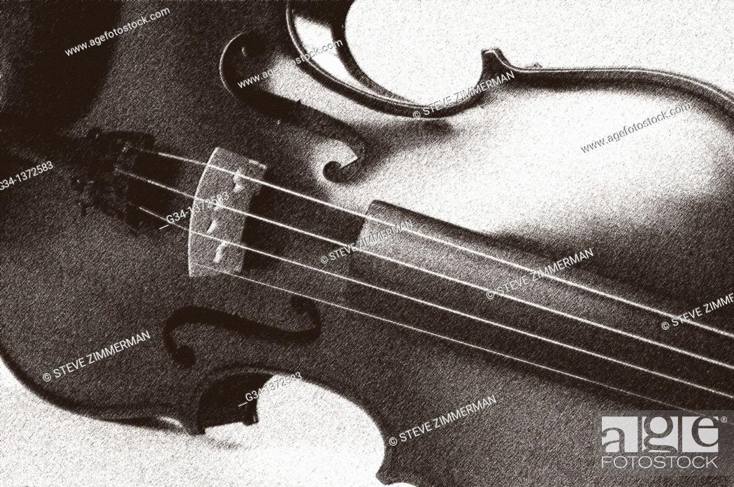 Stock Photo: Violin in studio.