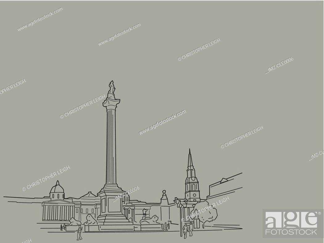 Stock Photo: An illustration of a city.