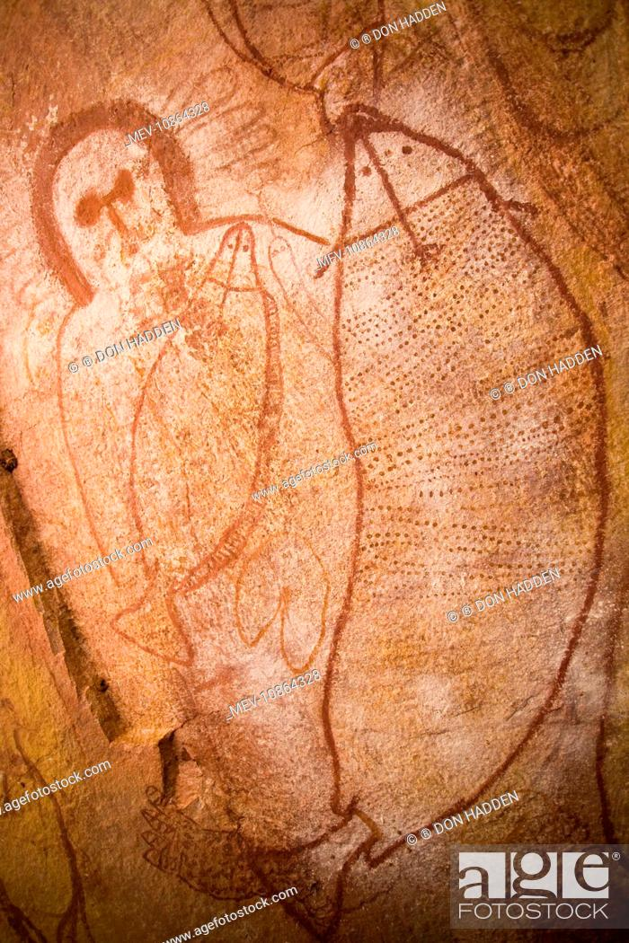 Australian Aboriginal Rock Art Near Raft Point Along The Kimberley